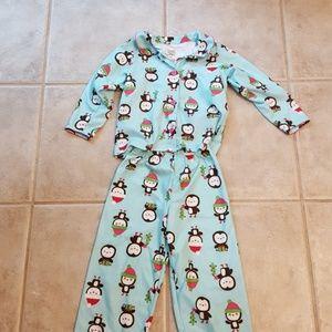 Girls penguin warm pajamas
